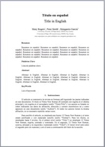 Instrucciones para autores - plantilla
